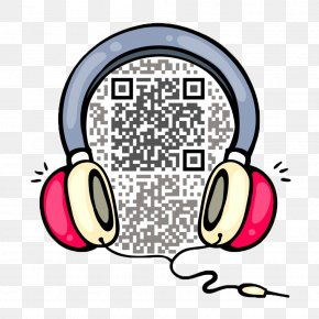 Personality TwoDimensional Code Identification - Headphones 2D Computer Graphics Cartoon PNG