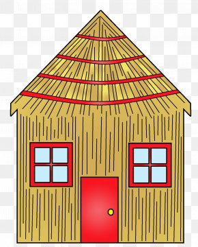 Straw House Cliparts - Domestic Pig The Three Little Pigs House Clip Art PNG