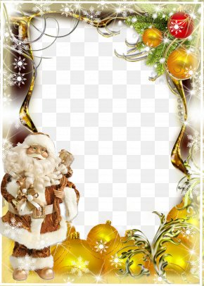 Christmas Frame Graphic Design Image - Christmas Graphic Design Picture Frame PNG