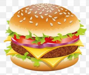 Hamburger Vector Clipart Picture - Hamburger Hot Dog Cheeseburger Fast Food Clip Art PNG