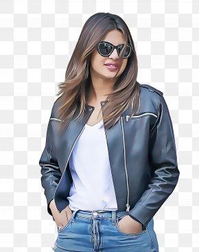 Trousers Glasses - Priyanka Chopra Quantico Bollywood Miss World 2000 Leather Jacket PNG