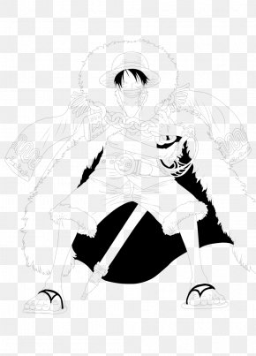 Monkey D Luffy - Monkey D. Luffy Line Art Character Sketch PNG