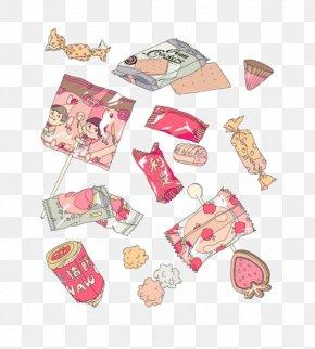 Cartoon Candy - Pink Drawing Wallpaper PNG