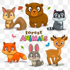 Cartoon Animals - Cartoon Forest Clip Art PNG
