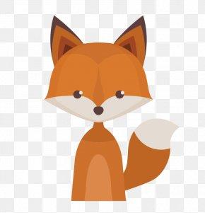 Vector Cartoon Fox - Deer Paper Raccoon Woodland Animal PNG