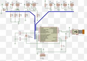 USB - Electrical Network Wiring Diagram Electrical Wires & Cable Schematic PNG