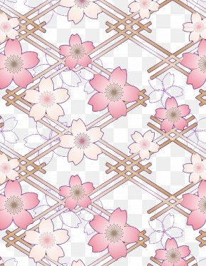 Pink Cherry Creative - Pink Cherry Blossom Drawing PNG