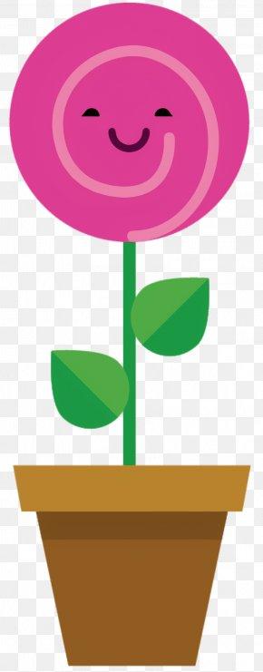 Symbol Plant Stem - Pink Flower Cartoon PNG