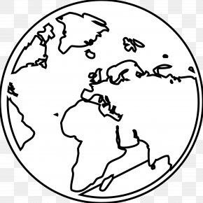 Black And White Earth - Earth Globe World Black And White Clip Art PNG