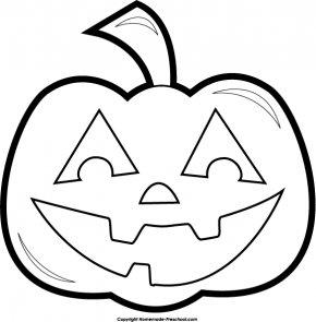 Halloween Cliparts Pumpkin - Black & White 2 Pumpkin Halloween Black And White Clip Art PNG