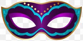 Purple Carnival Mask Clip Art Image - Mask Mardi Gras Carnival Clip Art PNG