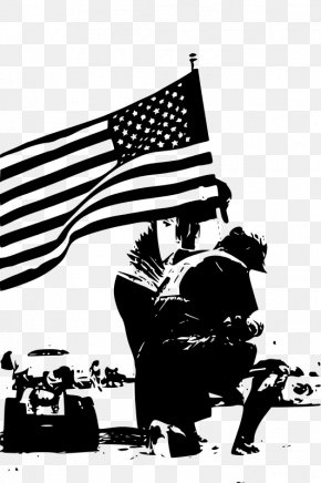Memorial Vector - Black And White Memorial Day Clip Art PNG