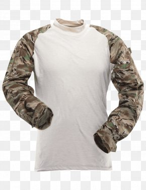 T-shirt - T-shirt Sleeve Army Combat Shirt Tigerstripe PNG
