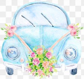 Wedding Car - Car Wedding Invitation Volkswagen Clip Art PNG