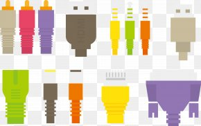 Vector USB Interface - USB Wire Euclidean Vector PNG
