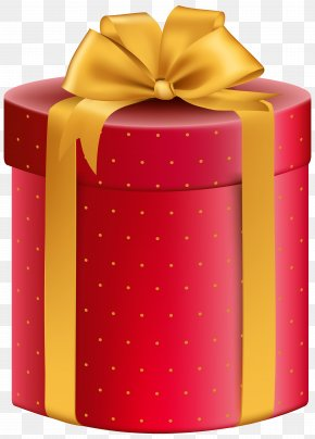 Red Yellow Gift Box Clipart Image - Gift Box Clip Art PNG