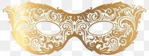 Gold Carnival Mask Clip Art Image - Mask Clip Art PNG