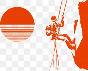 Climber Silhouette Vector - Climbing Silhouette Mountaineering PNG
