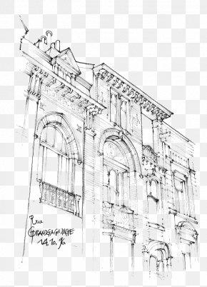 Building Artwork - Facade Architecture Building Sketch PNG
