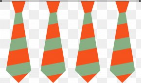 Cartoon Stripe Tie - Necktie Angle Pattern PNG