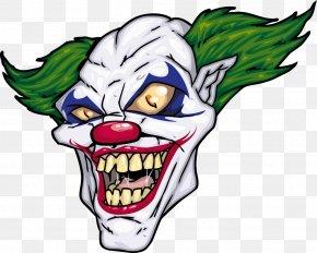Horror Clown - Joker Evil Clown Illustration PNG