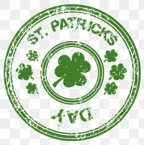 St Patricks Day Stamp With Shamrock PNG Clipart - Saint Patrick's Day Shamrock Clip Art PNG