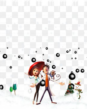 Snow Umbrella Couple - Snow Clip Art PNG