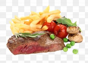Meat - Beefsteak French Fries Barbecue Grill Steak Frites Meat PNG