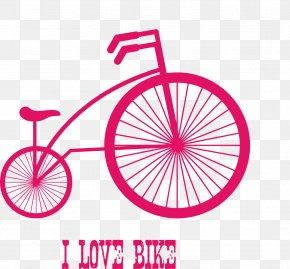 Vector Pieces Of Red Bicycle - Racing Bicycle Cycling Mountain Bike Bicycle Wheel PNG