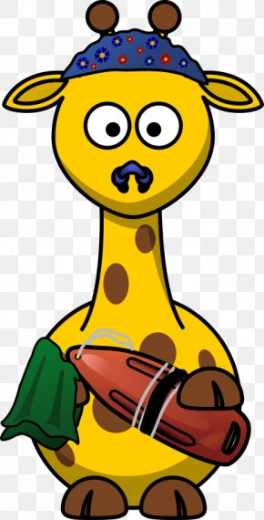 Cartoon Giraffe - Giraffe Cartoon Stuffed Toy Clip Art PNG