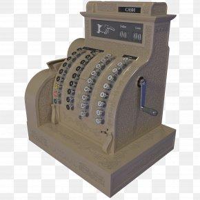 Brown Vintage Cash Register - Cash Register Machine Point Of Sale 3D Modeling Cinema 4D PNG