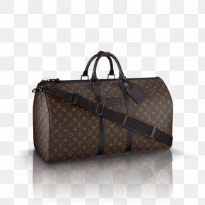 Bag - Louis Vuitton Keepall 45 Bandouliere Handbag Monogram PNG