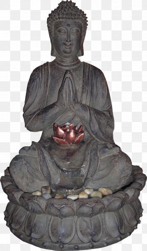 Sculpture Buddha Material Free To Pull - Buddhahood Statue Fountain PNG