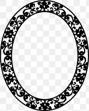 Picture Frame Picture Flower Frame - Circle Background Frame PNG