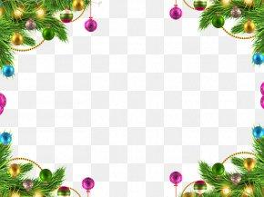 Christmas Ball Border - Christmas Holiday PNG