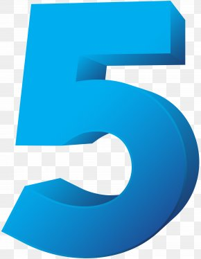 Blue Number Five Transparent Clip Art Image - Royalty-free Clip Art PNG