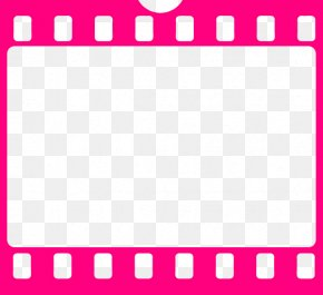 Pink Filmstrip Pic - Film Cinema Free Content Clip Art PNG