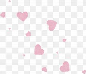 Pink Heart - Textile Heart Petal Pattern PNG