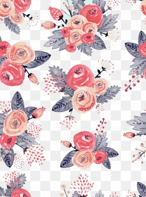 Hand-painted Watercolor Flowers Background - Watercolour Flowers Watercolor Painting Illustration PNG