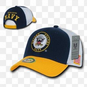 Navy Military Caps - Baseball Cap Trucker Hat United States Navy PNG