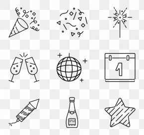 New Year's Day Vector Material Free Image - Computer Icons New Year's Eve Party PNG