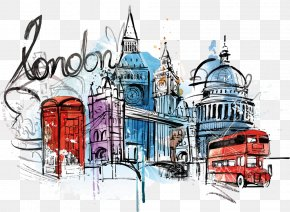 Vector Watercolor Illustration London - London Illustration PNG