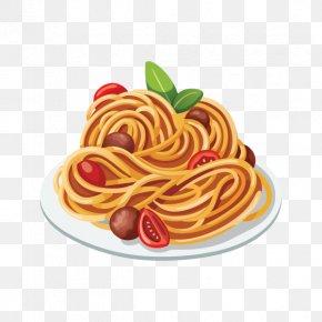 Clip Art Spaghetti And Meatballs - Spaghetti With Meatballs Pasta Italian Cuisine Bolognese Sauce Clip Art PNG