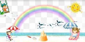 Rainbow Beach - Cartoon Photography Download PNG