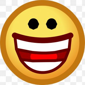 Smiley Laughing Hysterically - Club Penguin Emoticon Smiley Emote Clip Art PNG