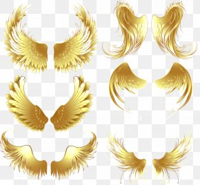 Game Wings Metal Design Elements Vector Material - Download Gold PNG