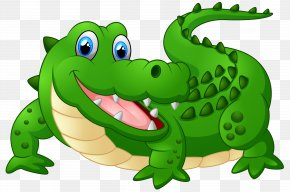 Happy Crocodile Cartoon Clipart Image - Crocodile Alligator Cartoon Clip Art PNG