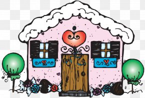 House - Gingerbread House Coloring Book Snowflake PNG