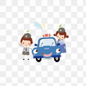 Cute Cartoon Child Traffic Police - Cartoon Child Illustration PNG