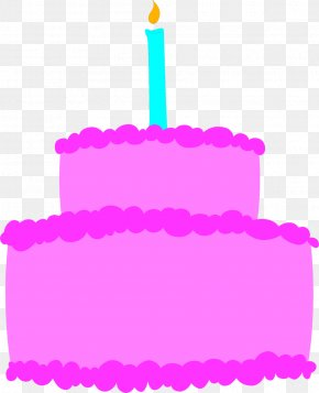 Purple Cake Cliparts - Birthday Cake Cupcake Clip Art PNG